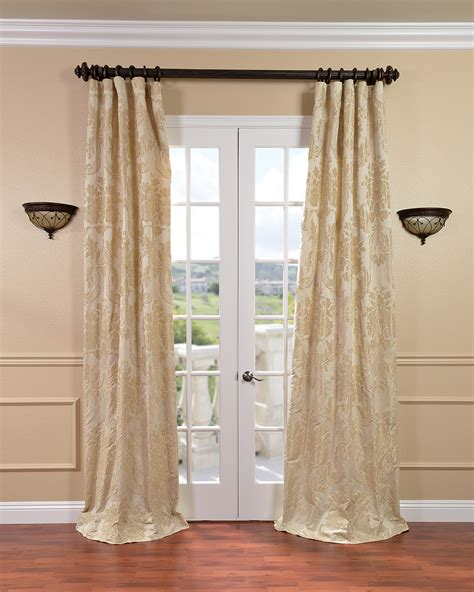drapes curtains champagne silk curtain panels white silk