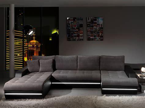 canapé en stock canapé d 39 angle fixe design en tissu gris pu noir alamak