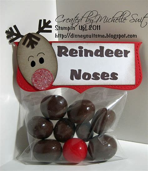 reindeer noses christmas party favors idea reindeer noses for gifts make reindeer bags and