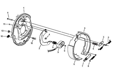 Electric Trailer Brake Parts Diagram