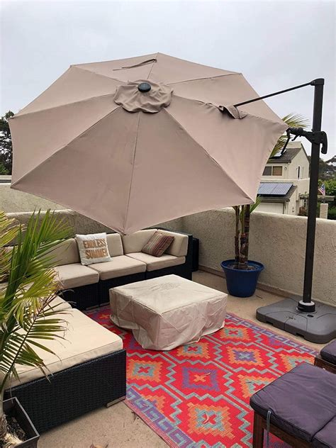 patio umbrella replacement canopy cantilever supported bar  ft formosa covers formosa covers