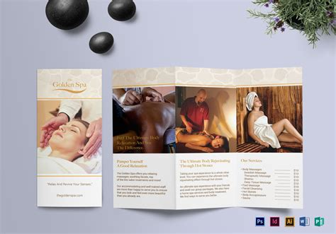 Free Spa Brochure Templates Tri Fold Spa Brochure Design Template In Psd Word