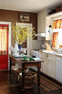 i usually love a yellow kitchen but i do love that dark With kitchen colors with white cabinets with red and brown wall art