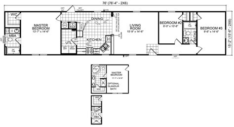 1985 fleetwood mobile home floor plans burke 16 x 76 1152 sqft mobile home factory expo home