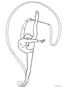 printable gymnastics coloring pages  kids