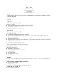 teacher resume professional skills receptionist resume for early childhood education sles of resumes