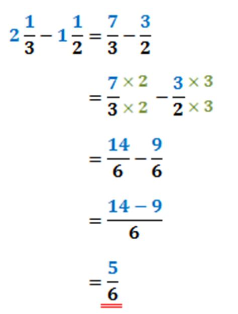 math expression subtracting fractions worksheet unlike