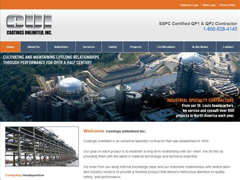 coatings unlimited web and software design st louis