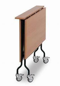 Klappbarer tisch mit rollen klapptisch rolltisch for Klappbarer tisch