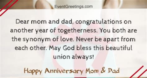 amazing happy anniversary mom  dad quotes  wishes
