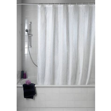 wenko deluxe white polyester shower curtain