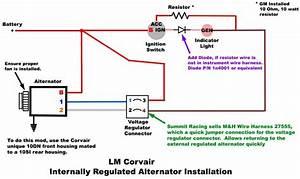 Battery Draw   Internally Regulated Alternator Install