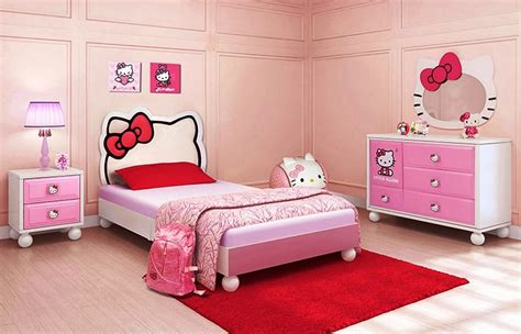 hello kitty bedroom idea for your cute little girl