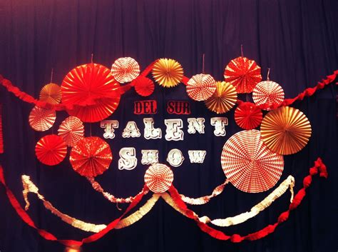 Backdrop Ideas For School by School Talent Show Decorating Ideas Used A