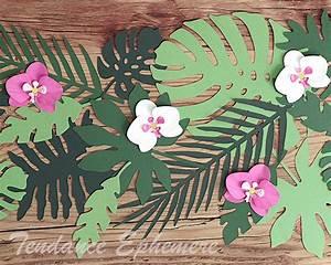Deco Table Tropical : dcoration de table hawai aloha thme de fte feuille palmier ~ Teatrodelosmanantiales.com Idées de Décoration
