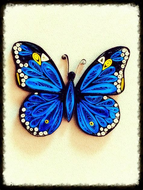 finally managed to make my quilled butterfly quilling