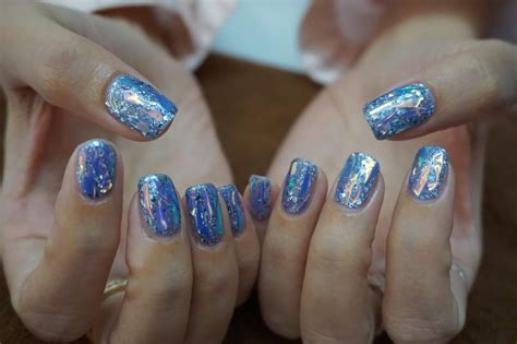 top nail art trend  thailand glitter top nail art