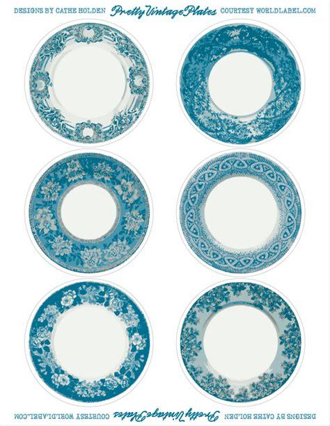 printable vintage label dishes   colors