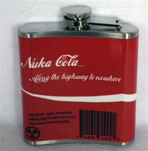 Nuka Cola L Etsy nuka cola fallout inspired flask 6oz by athenaswink on