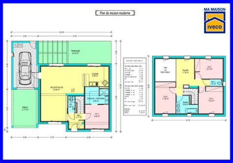 plan maison gratuit 4 chambres plan maison 2 etages gratuit