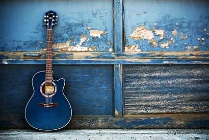 Guitar Acoustic Wallpapers Gitara Guitars Niebieska Blues