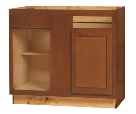 glenwood beech cabinets home depot kitchen kompact glenwood 39bc beech base corner cabinet at