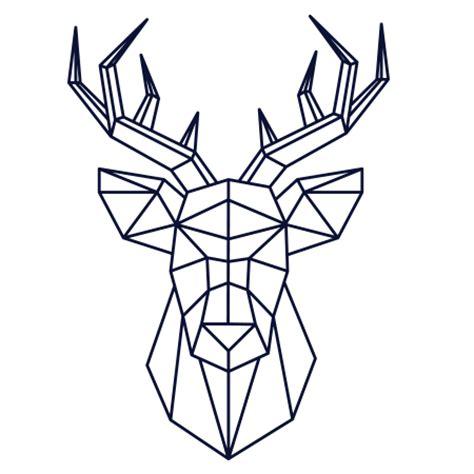au bureau rennes stickers cerf facettes scandinave stickers malin