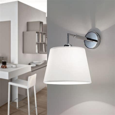 applique da parete moderne 6474 smart lada parete applique moderno paralume bianco