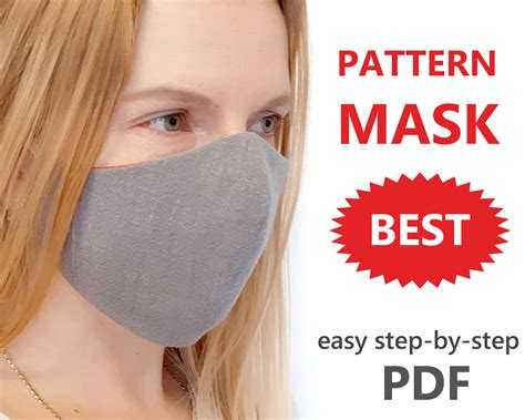 I found a few different patterns that work great for donations and personal use. Masks Cloth Sewing Printable Patterns / Adult Face Mask ...