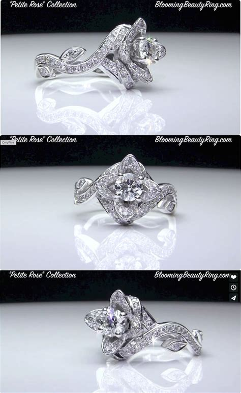 1381 best images about flower engagement rings on
