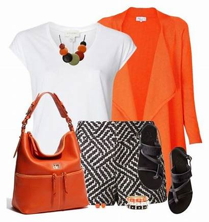 Polyvore Orange Cardigan Daiscat Sandals Outfits