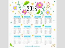 Bonito calendario 2018 Descargar Vectores gratis