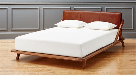 drommen acacia queen bed  leather headboard reviews