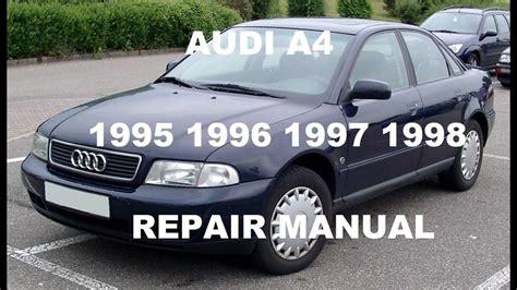how to download repair manuals 1998 audi riolet auto manual audi a4 repair manual 1996 1997 1998 youtube