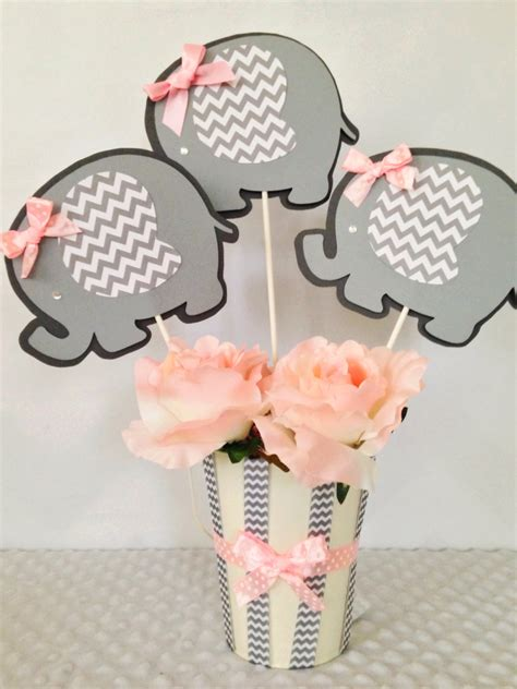 elephant centerpieces for baby shower elephant baby shower centerpiece for pink and gray baby