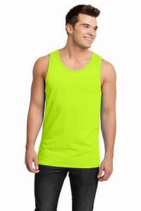 District Young Mens Cotton Ringer Tank Top