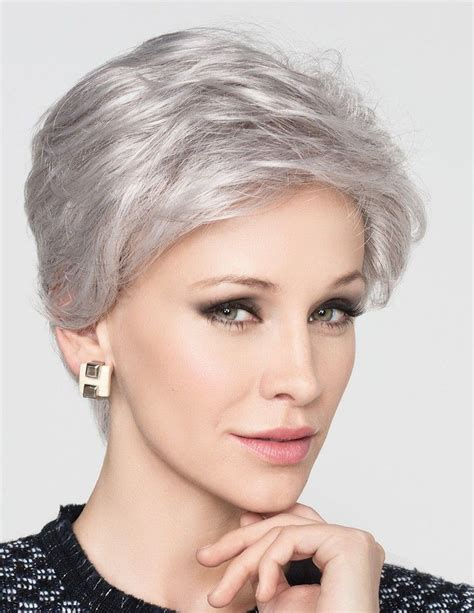 Grey short hair styles are many, and surely most of them are extremely trendy these days. Natural Short Grey Hair Wig For Old Women - Rewigs.com