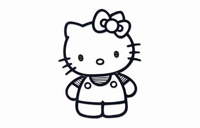 Kitty Hello Coloring Cat Style1 Icon Vippng