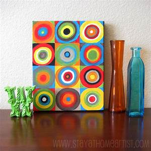easy canvas paintings for kids | The idea stems from an ...
