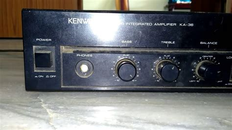Kenwood Stk Stereo Amplifier Old Youtube