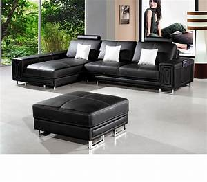 dreamfurniturecom 2265 modern bonded leather With modern black leather sectional sofa ff125