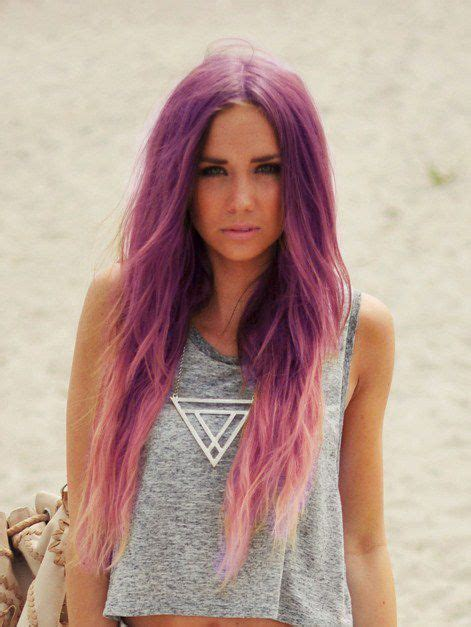 Purple And Light Pink Ombre Hair Hair Pinterest
