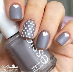Gray matters of the heart nails nail design art