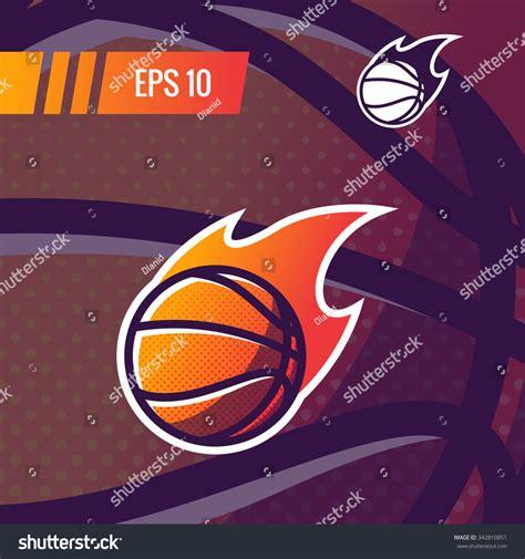 colorful basketball colorful basketball sports stock vector