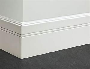 Sockelleisten Weiß Holz : schlichte moderne sockelleisten wei lackiert fu leisten ~ Michelbontemps.com Haus und Dekorationen