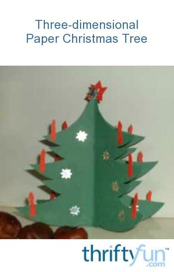 dimensional paper christmas tree thriftyfun