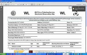 Refund of waiting E ticket under tatkal scheme-IRCTC ...