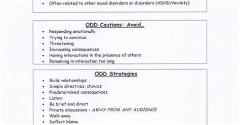 dealing  oppositional defiant disorder odd