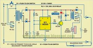 Automatic Soldering Iron Switch Wiring Diagram Schematic