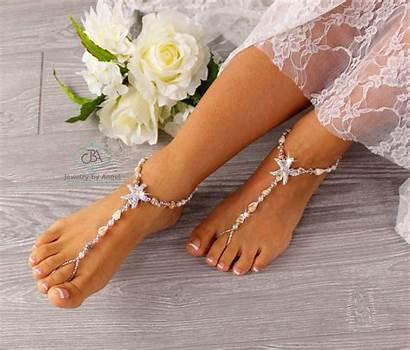 Sandals Barefoot Foot Jewelry Seashell Starfish Bridal